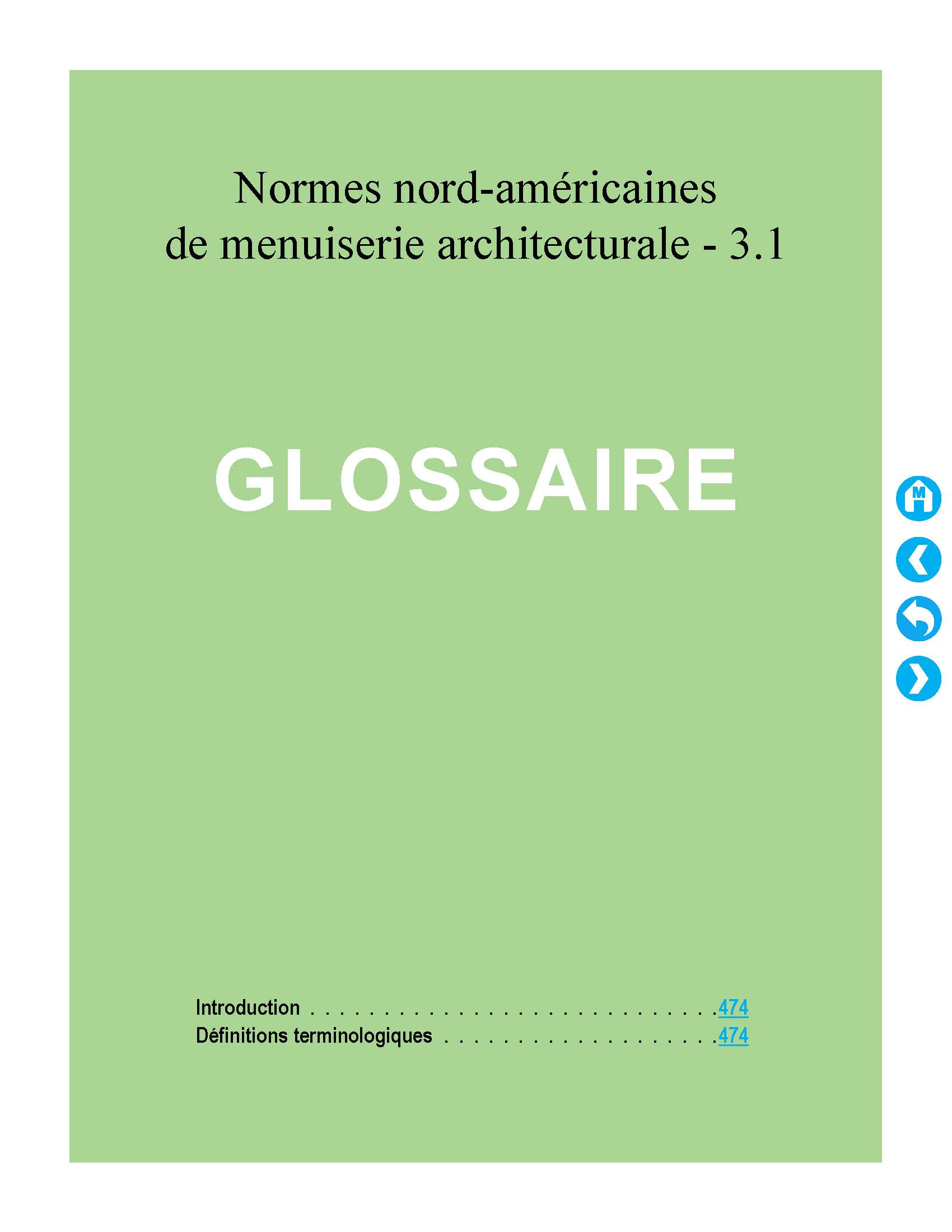 NAAWS French Glossary Cover